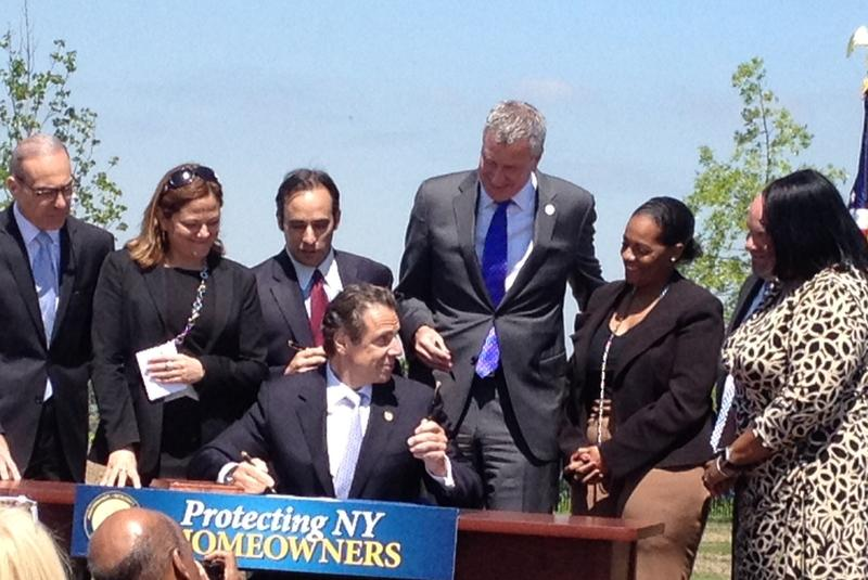 Governor Cuomo signs law providing tax abatements to Sandy  homeowners