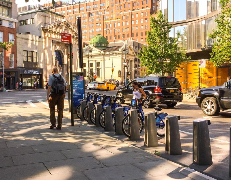 A Citi Bike station in the West Village