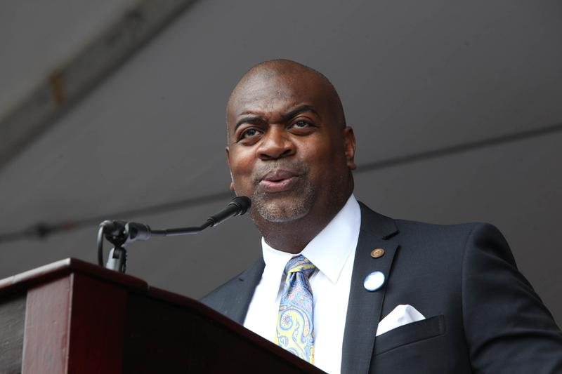 Newark mayor Ras Baraka on his inauguration day July 1, 2014