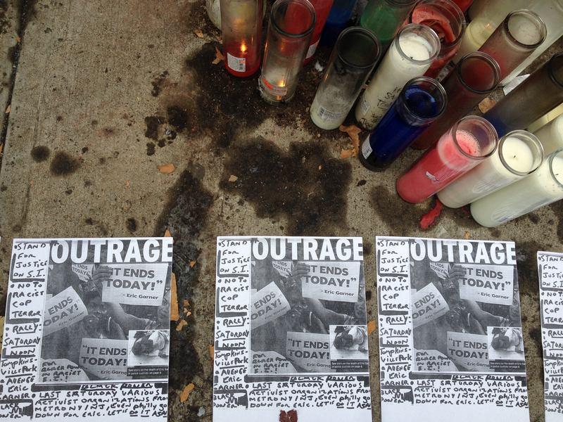 Memorial to Eric Garner in Tompkinsville, Staten Island.