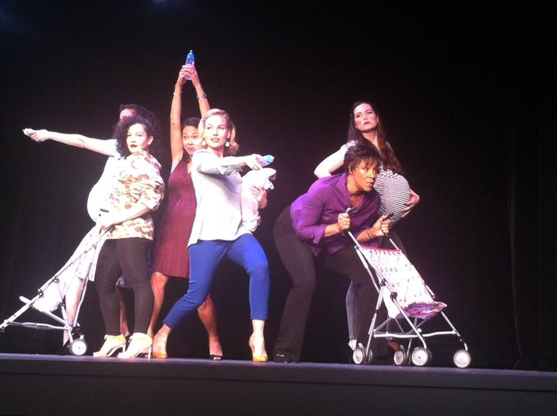"Cast of ""Urban Momfare,"" a musical about motherhood in Manhattan's Upper East Side."