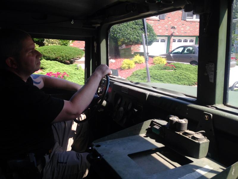 Little Ferry Police Detective Ronald Klein ordered six military trucks for the town to use for water rescues.
