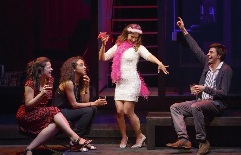 """Lindsay Mendez, Carra Patterson, Sas Goldberg and Gideon Glick. Joshua Harmon's new comedy """"Significant Other"""" at Roundabout Theatre Company."""