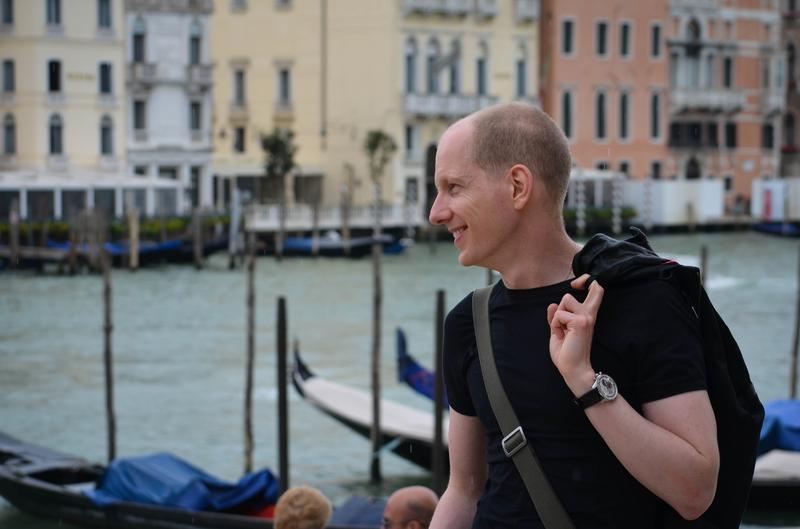 Pianist Olivier Cavé in Venice, Italy