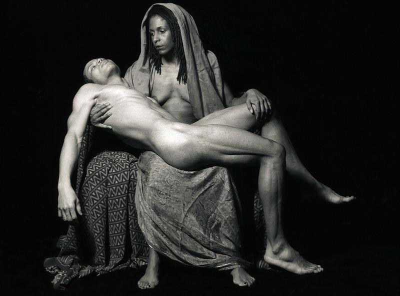 """Yo Mama's Pieta,"" a photo by Renee Cox, as seen in ""Through a Lens Darkly: Black Photographers and the Emergence of a People,"" a film by Thomas Allen Harris."