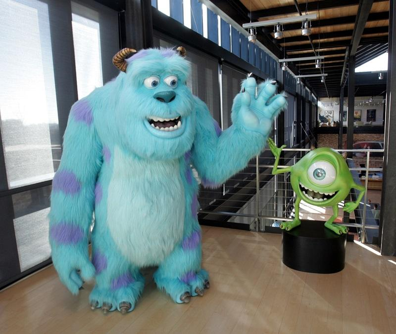 "Characters from the Pixar Animation Studios Inc. movie ""Monsters Inc."" are shown in the lobby of Pixar headquarters in Emeryville, Calif., Tuesday, Jan. 24, 2006."