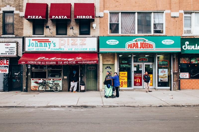 One of the pizzeria's featured in the book, Johnny's Pizzeria in Sunset Park.