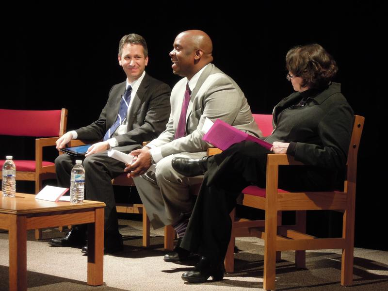 Josh Wallack, Deputy Mayor Richard Buery and Regina Gallagher discussed New York City's pre-k expansion at the Bank Street College of Education.