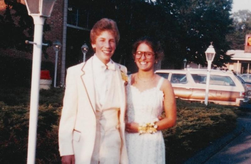 WNYC's Andrew Adam Newman (left). Year: 1979.