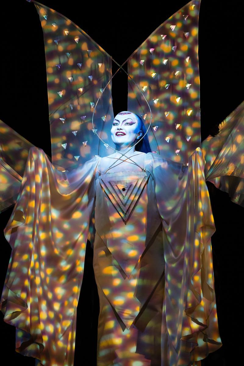 "Albina Shagimuratova as the Queen of the Night in Mozart's ""The Magic Flute"" at the Metropolitan Opera."