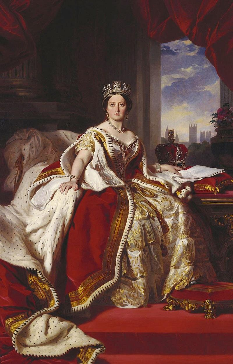 Portrait of Queen Victoria in 1870, in her coronation robes, by Franz Xaver Winterhalter