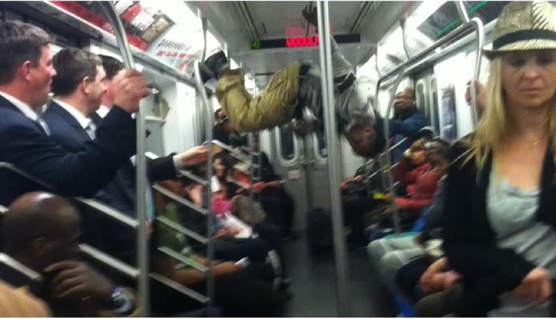 Rayquan Perez is a subway performer who usually dances on the 4 and 2 lines.