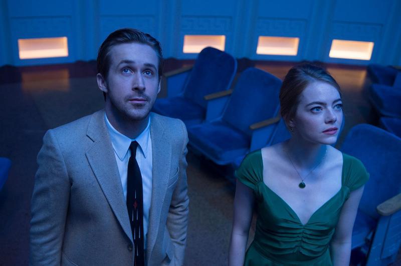 "Emma Stone and Ryan Gosling in the musical ""La La Land"""