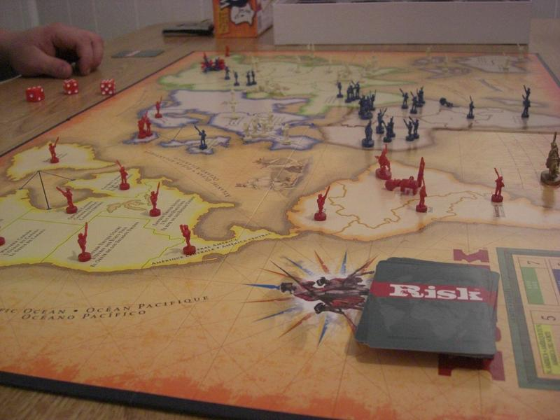 The board game 'Risk'