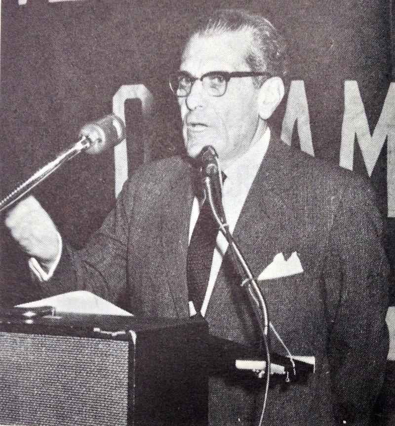 Zenon Rossides before the Overseas Press Club.