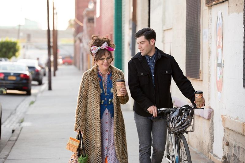 """Sally Field and Max Greenfield in """"Hello, My Name is Doris."""""""