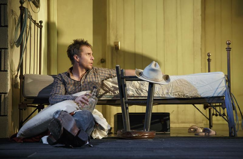 """Sam Rockwell as 'Eddie' in the Broadway production of """"Fools for Love,"""" co-starring Nina Arianda."""