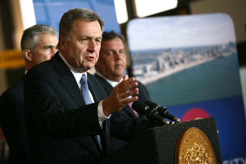 The now former Port Authority Chairman David Samson at Newark International Airport announcing United Airlines adding routes in and out of Atlantic City Airport on Nov. 14, 2013