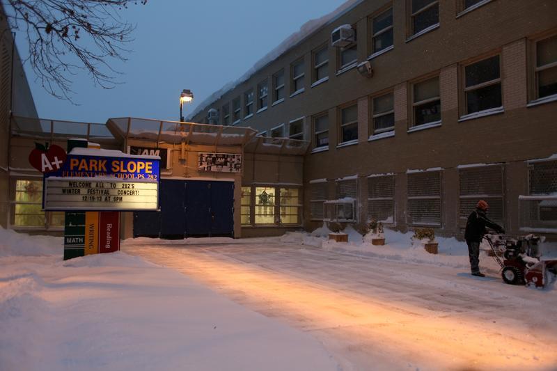 Schools are closed in New York City.