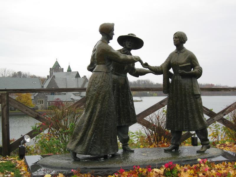 A statue in Seneca Falls, New York