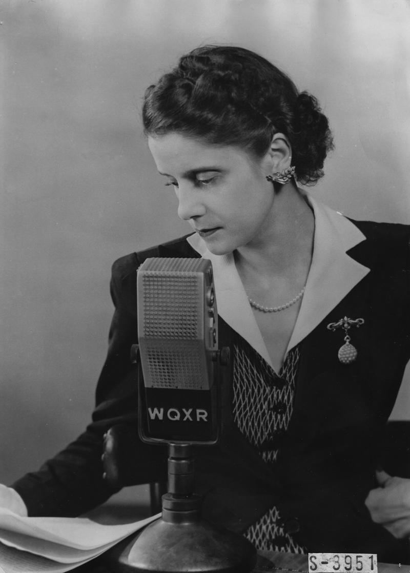 WQXR News Commentator Lisa Sergio, circa 1943.