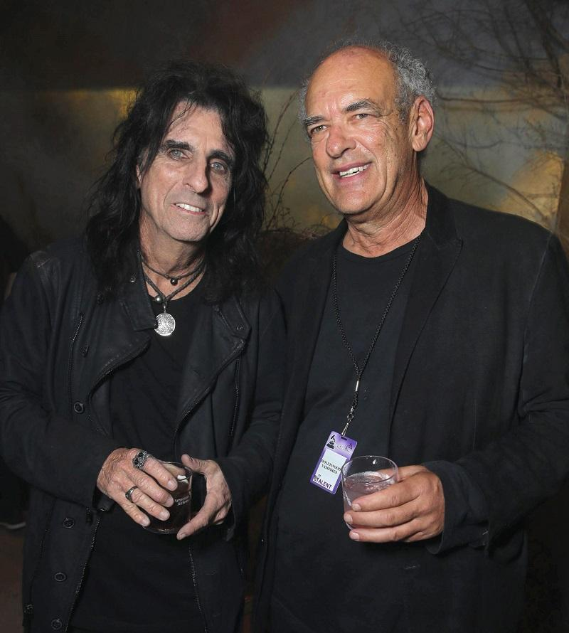 Shep Gordon and Alice Cooper seen at Universal Music Group Grammy Party Presented by American Airlines and Citi at The Theatre at Ace Hotel on Monday, Feb. 15, 2016, in Los Angeles, CA.