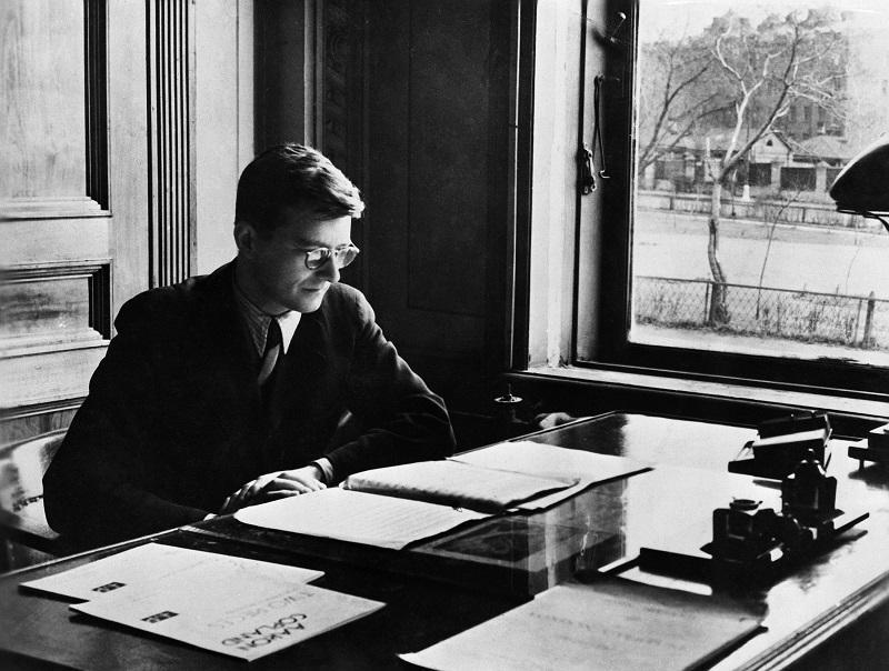 Composer Dmitri Shostakovich in the 1940s.