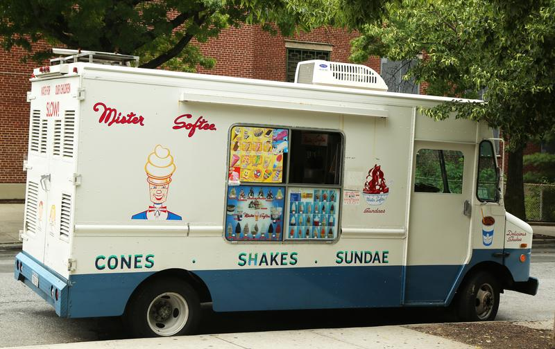 Mister Softee ice cream truck in Brooklyn, New York.