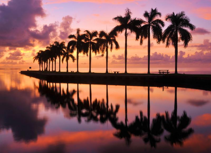 Sunrise at Cutler Bay near Miami, Florida.