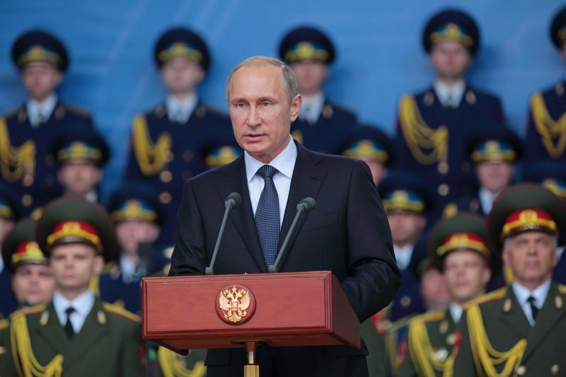 Vladimir Putin at the opening ceremony of the International military-technical forum ARMY-2015 in military-Patriotic park. Jun 16, 2015