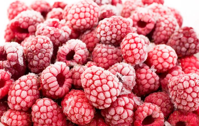 Raspberries and other summer fruits and vegetables can be frozen to preserve them.
