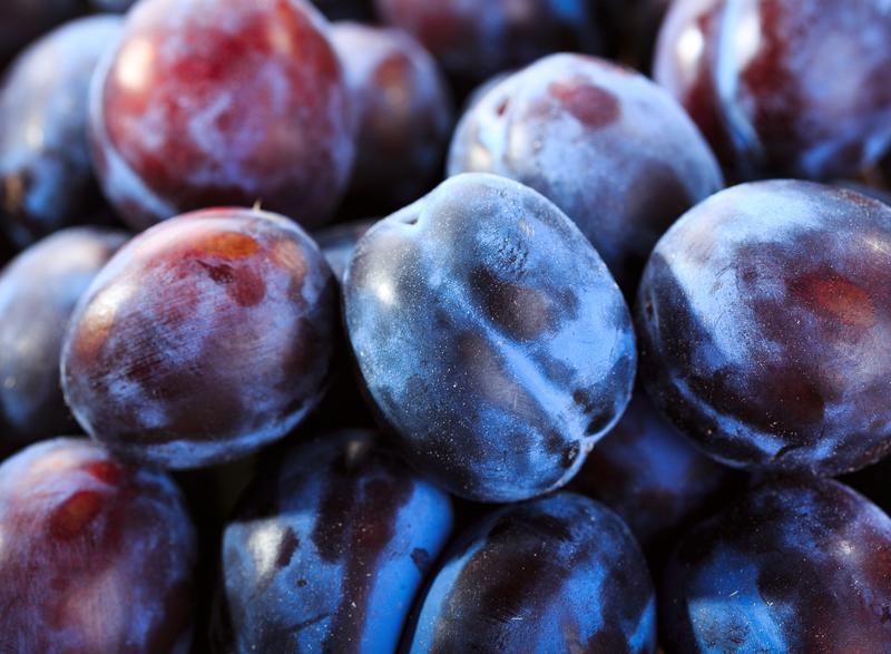 Use plums to make Melissa Clark's upside down polenta cake.