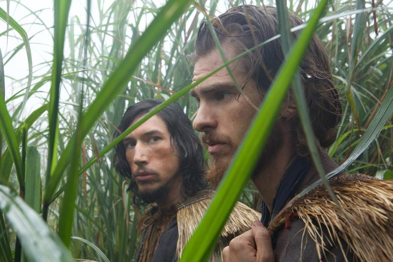 Adam Driver plays Father Garupe and Andrew Garfield plays Father Rodrigues in the film SILENCE by Paramount Pictures, SharpSword Films, and AI Films (Reprinted with permission from Kerry Brown)