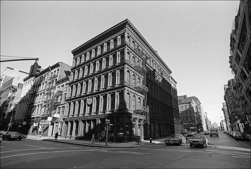 The Haughwout Building on Broadway and Broome Street in SoHo, New York, New York, October 10, 1974.