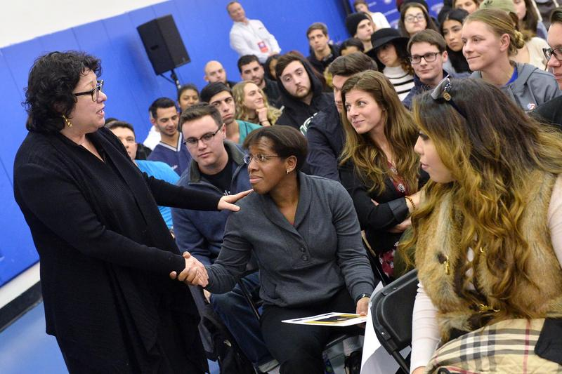 Supreme Court Justice Sonia Sotomayor at St Francis College in Brooklyn