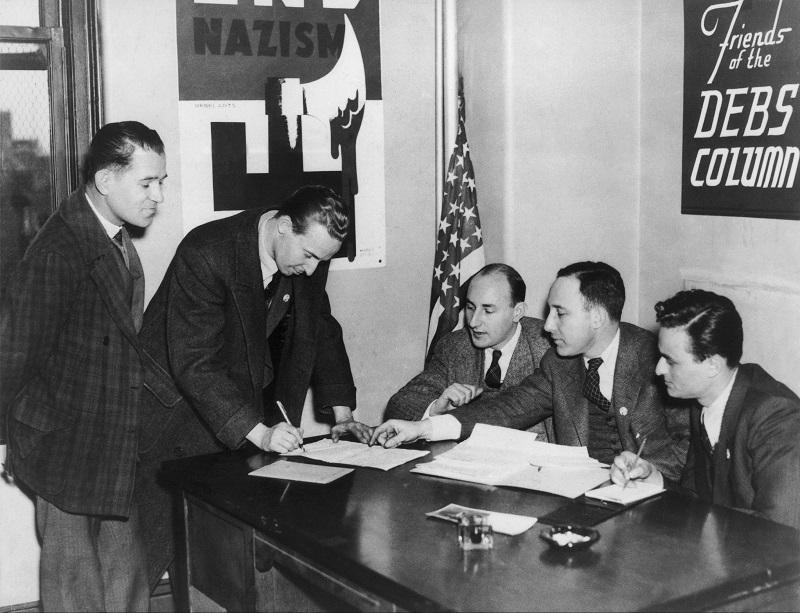 The American Volunteer Enrollment Office For The Spanish Civil War In June 1937.