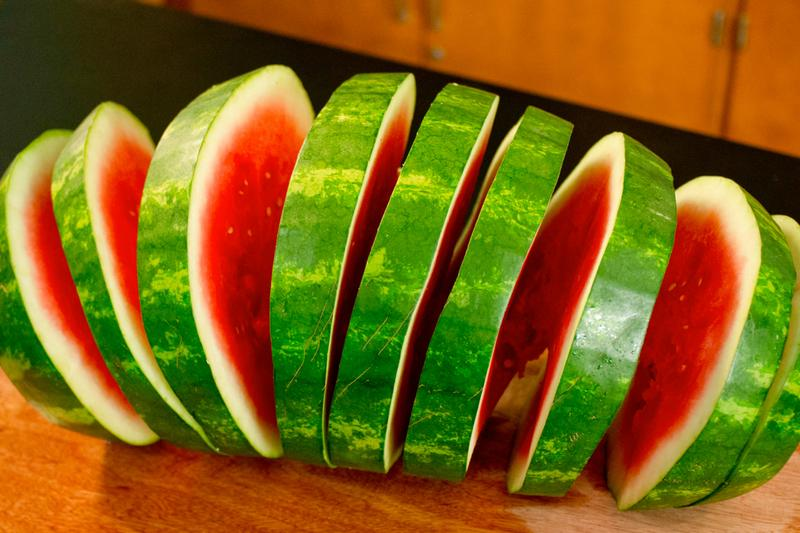 Spiral cut watermelon makes everything better.