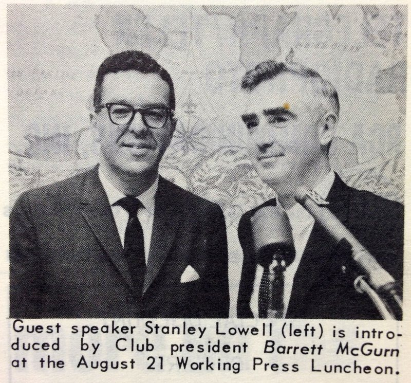 Stanley Lowell and the OPC President Barrett McGurn