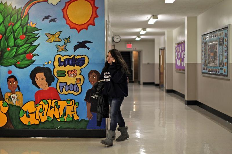 Stephanie, 16, just transferred to West Brooklyn from Fort Hamilton High School.