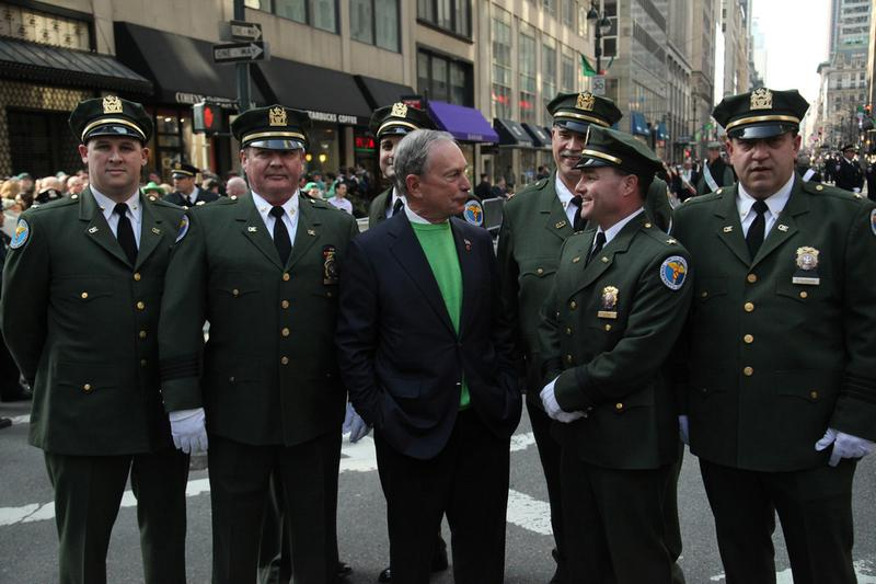 Mayor Bloomberg marches in 251st NYC St. Patrick's Day Parade on March 17, 2012