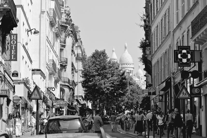 Street view of Paris, France.