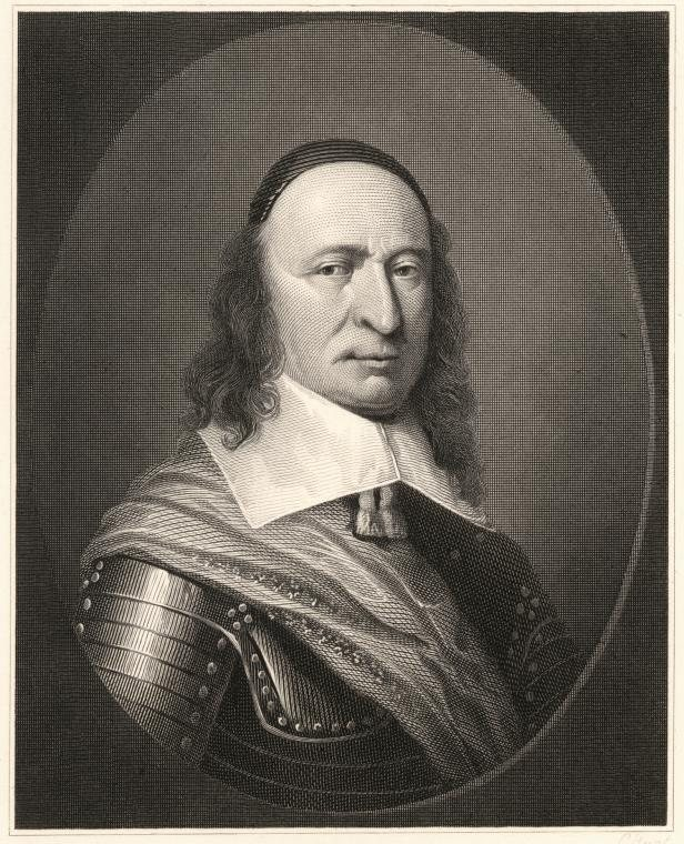 A steel engraving of Peter Stuyvesant (1592-1672)