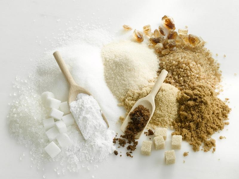 Sugar types: sugar, cube sugar, icing sugar, crystal sugar, granulated sugar, rock sugar, cane sugar, brown sugar, muscovado sugar, demerara sugar