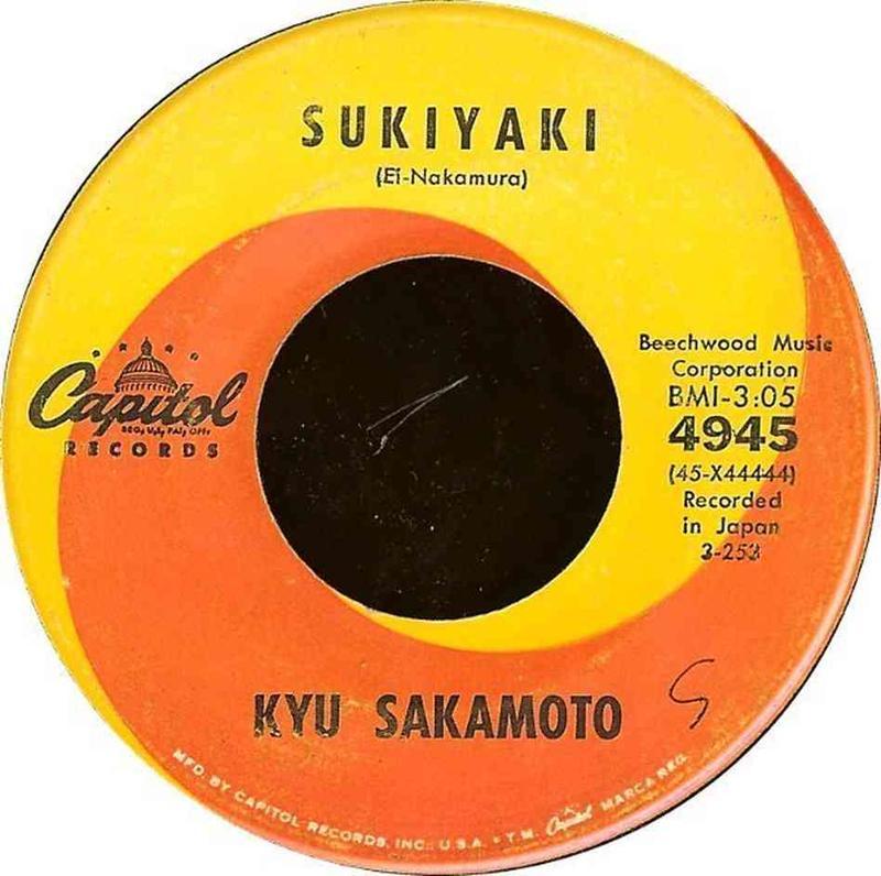 """""""Sukiyaki"""" was a huge U.S. hit for Japanese pop singer Kyu Sakamoto."""