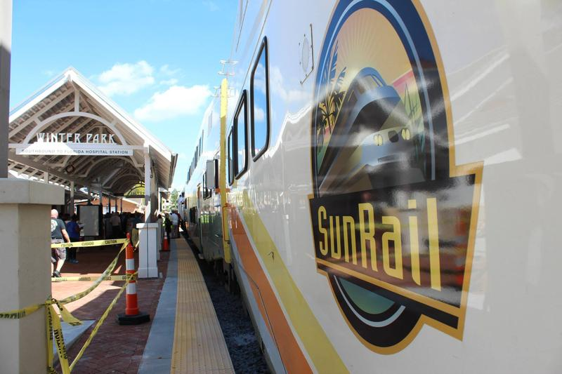 SunRail's new station in the city of Winter Park, Florida