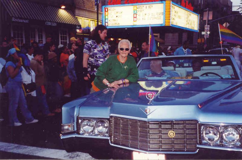 Storme DeLarverie at the 2002 Brooklyn Gay Pride Parade.