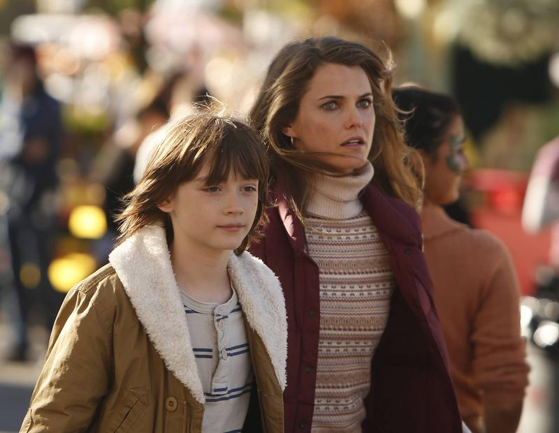 (Left to right) Keidrich Sellati and Keri Russell in <em>The Americans</em>