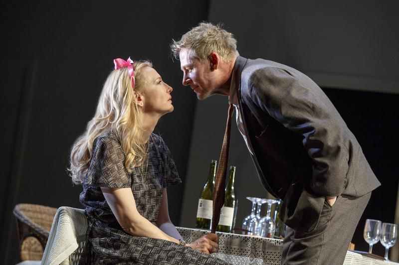 "The Sydney Theatre Company Production of ""The Present,"" opening Sunday, January 8, 2017 on Broadway at the Barrymore Theatre. Pictured L-R: Cate Blanchett and Richard Roxburgh."
