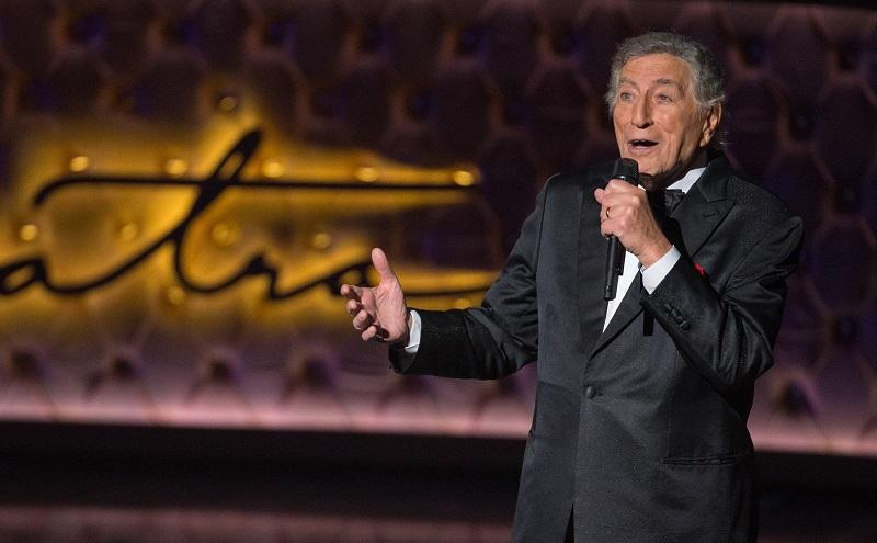 Tony Bennett performs during the Sinatra 100 - An All-Star Grammy concert at The Wynn Las Vegas, Wednesday, Dec. 2, 2015.