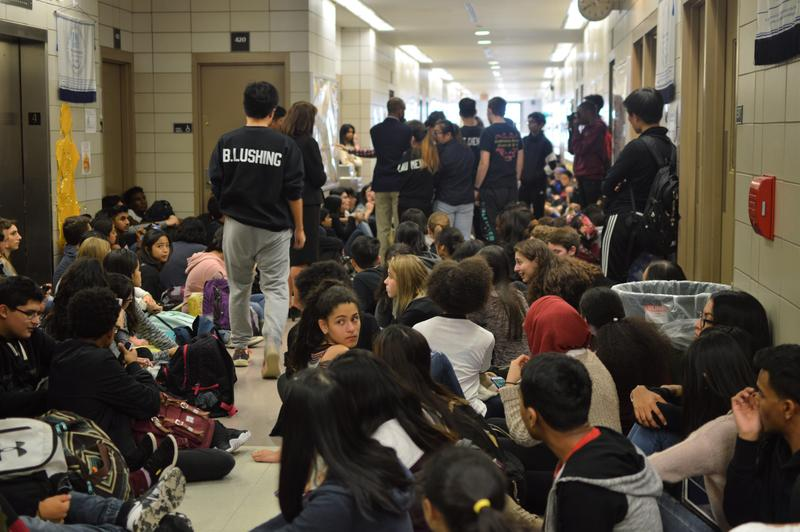 Students at Townsend Harris High School staged a sit-in earlier this month to protest the interim principal, Rosemarie Jahoda. The event was documented by the school paper, The Classic.